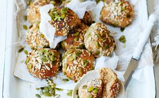 rye, honey and seed bread rolls