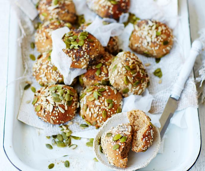 """These nutritious [rye, honey and seed pull-apart rolls](https://www.womensweeklyfood.com.au/recipes/rye-honey-and-seed-bread-rolls-3005 target=""""_blank"""") are a delicious and healthy accompaniment with dinner - made with loads of tasty wholesome ingredients."""