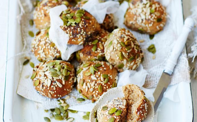 rye, honey and seed bread rolls
