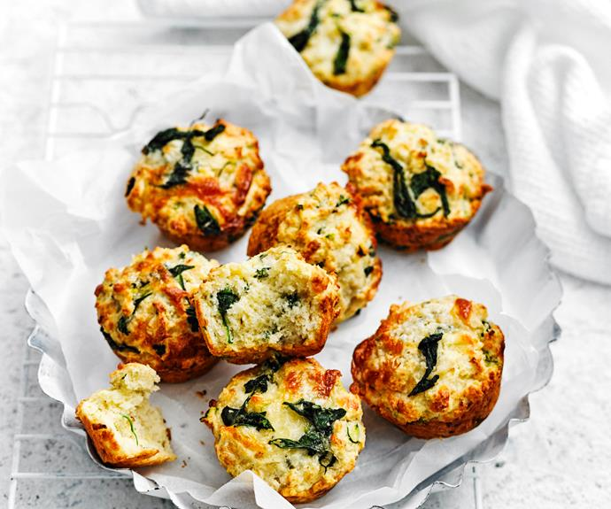 """**[Spinach and three cheese muffins](https://www.womensweeklyfood.com.au/recipes/spinach-and-three-cheese-muffins-5170