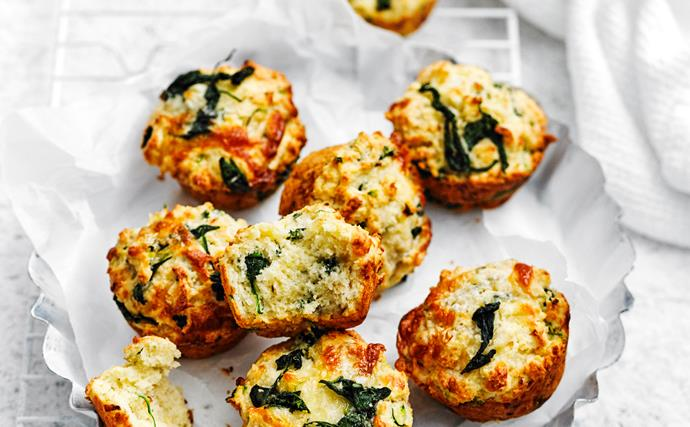 SPINACH AND THREE CHEESE MUFFINS