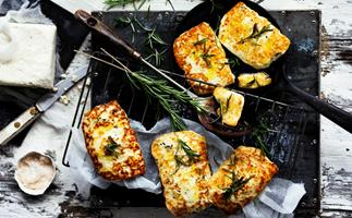 How to make rosemary haloumi