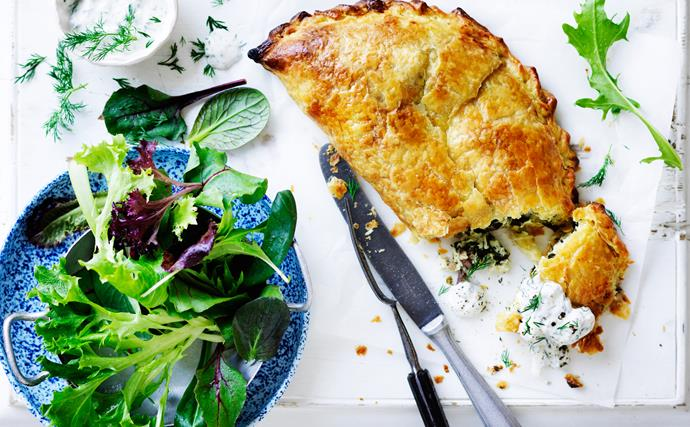 Greek spinach and fetta pie