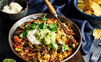 Quinoa, black bean & chipotle chilli