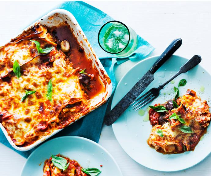 "**[Frying pan vegetable and ricotta lasagne](https://www.womensweeklyfood.com.au/recipes/frying-pan-vegetable-and-ricotta-lasagne-11628|target=""_blank"")**"