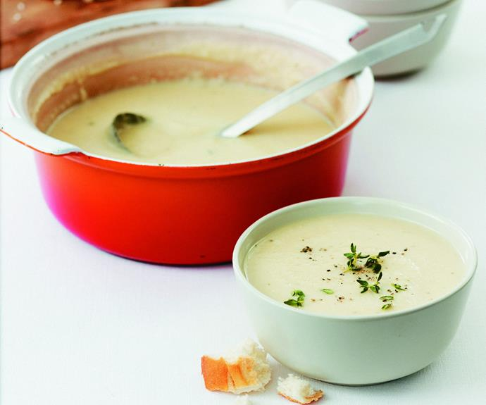 """**[Potato and leek soup](http://www.womensweeklyfood.com.au/recipes/potato-and-leek-soup-15585