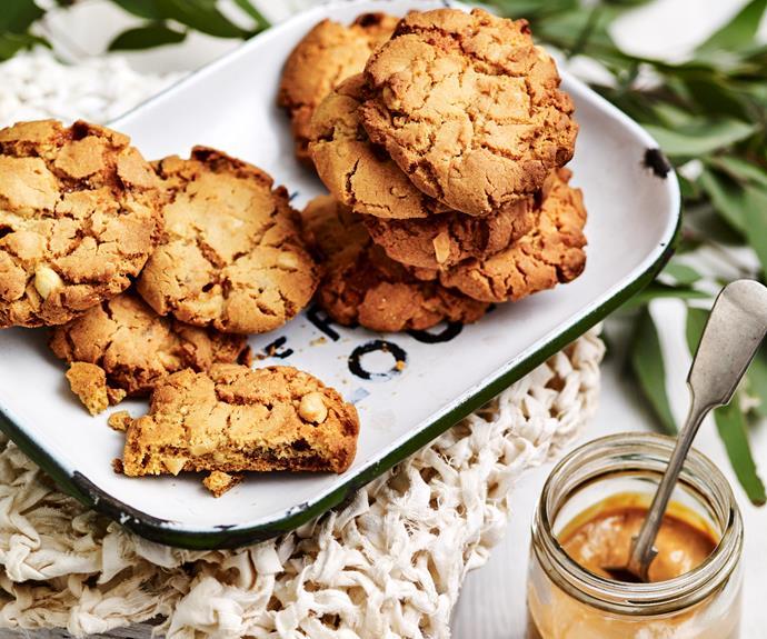 "**[Peanut butter cookies](https://www.womensweeklyfood.com.au/recipes/peanut-butter-cookies-15292|target=""_blank"")**  Simply the best."