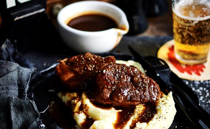 Star anise, soy and beer-braised beef shin