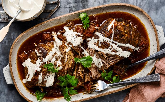 Moroccan pulled beef
