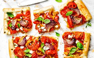 ROASTED Vegetable Fillo Tart