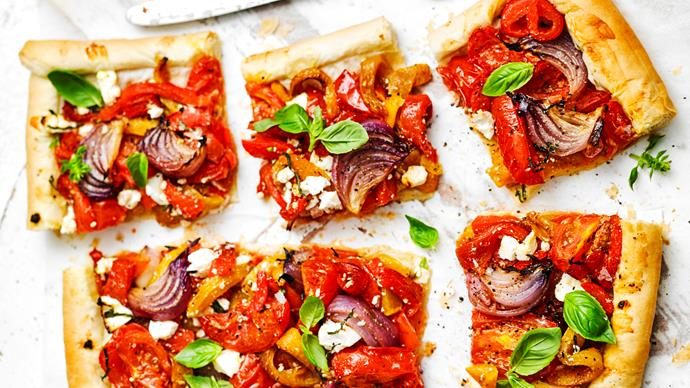 ROASTED Vegetable Fillo Tart