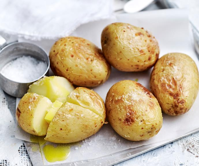 """**[Baked potato](https://www.womensweeklyfood.com.au/recipes/baked-potatoes-32399 target=""""_blank"""")**, jacket potato, or baked spud. Call them what you like, they're an easy weeknight meal."""