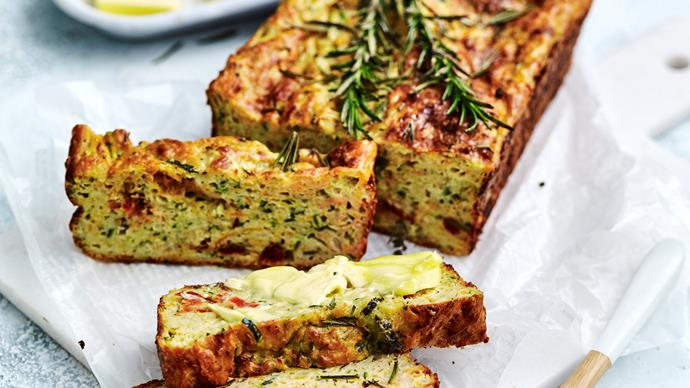 Zucchini and sweet potato loaf