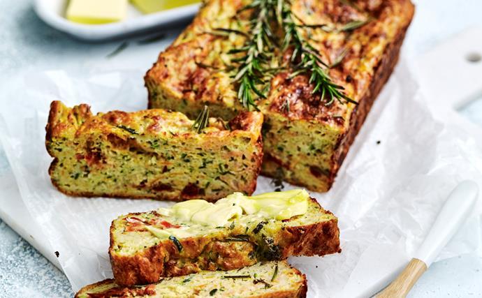 Zucchini and sweet potato loaf