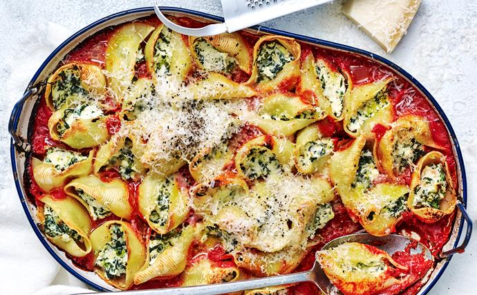 ricotta and spinach pasta bake