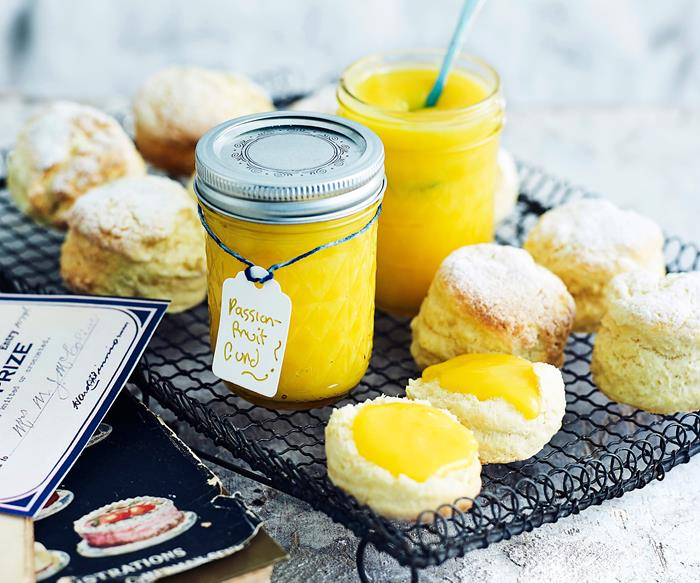 Passionfruit and lemon butter