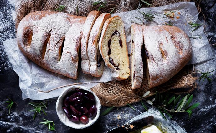 Rosemary and kalamata olive bread