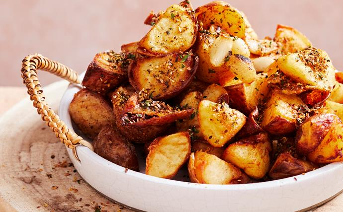 Crispy middle-eastern seed and spice potatoes