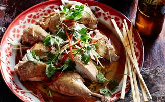 POACHED CHICKEN WITH SOY AND SESAME