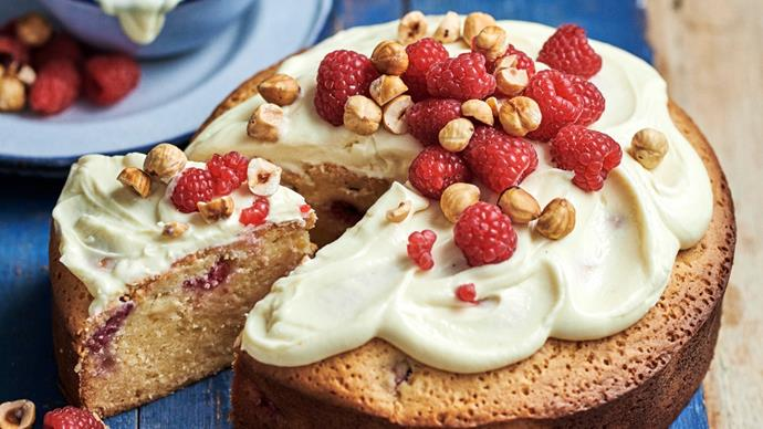 White Chocolate and Raspberry Mud Cake