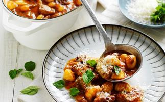 Oregano Lamb Stew with Gnocci