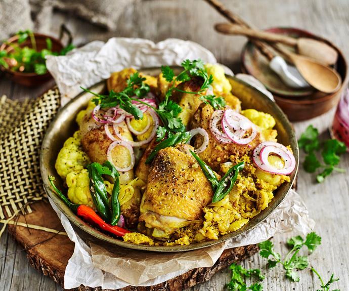 "**[Chicken in turmeric and yoghurt](https://www.womensweeklyfood.com.au/recipes/tumeric-chicken-32475|target=""_blank"")**  Winner, winner, chicken dinner."