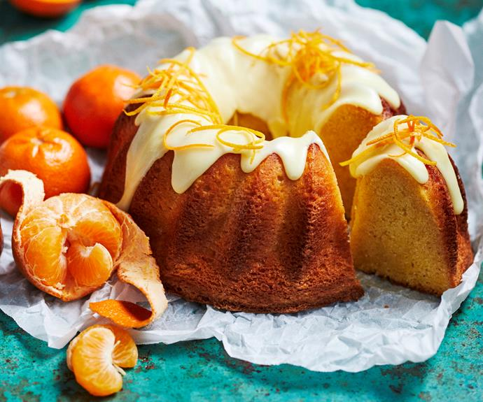 """**[Citrus and ginger bundt cake](https://www.womensweeklyfood.com.au/recipes/citrus-ginger-bundt-cake-32482
