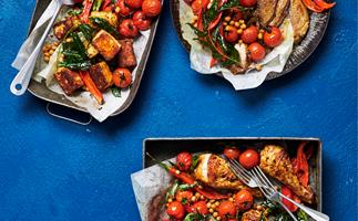 Indian roasted tomatoes, chickpeas and chilli