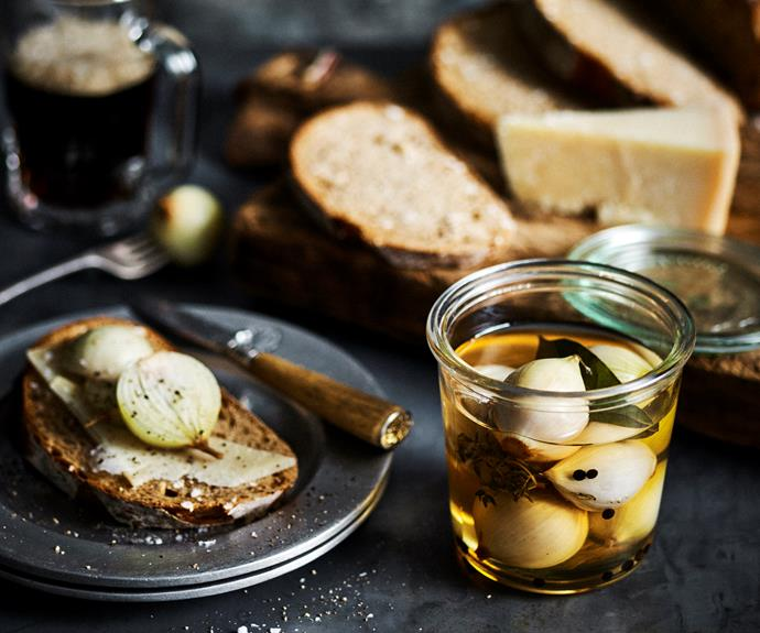 """**[Pickled onions](https://www.womensweeklyfood.com.au/recipes/pickled-onions-22789