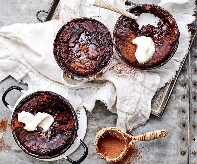 chocolate self- saucing puddings