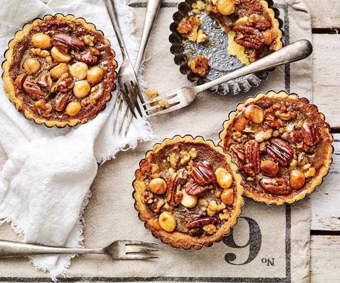 pecan, macadamia and walnut tartlets