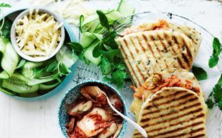 Kimchi and cheese toasties