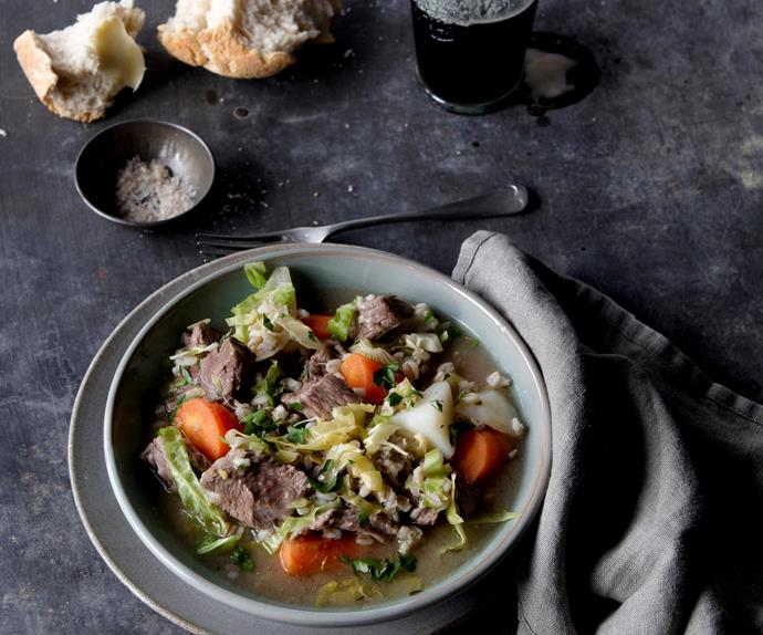 Irish lamb and barley stew