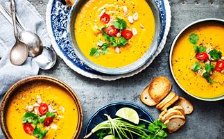 Coconut pumpkin soup made in your slow cooker