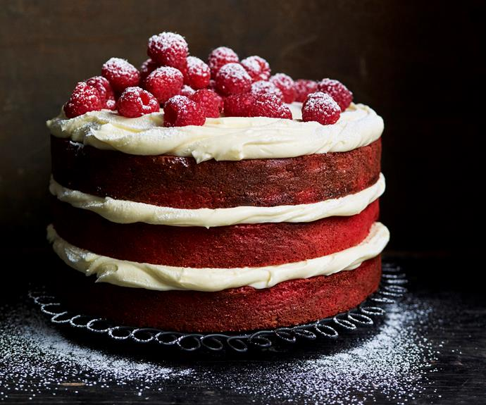 """[**Gluten-free red velvet mud cake**](https://www.womensweeklyfood.com.au/recipes/red-velvet-mud-cake-32533