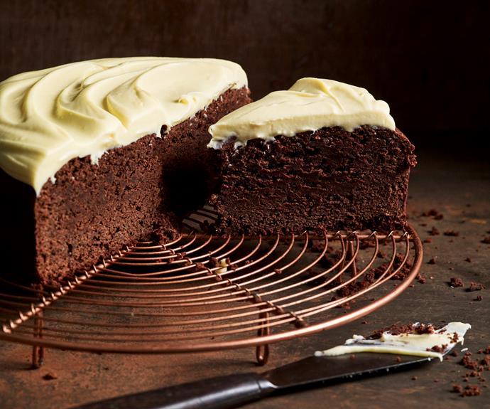 """**[Buttermilk chocolate cake with white chocolate ganache](https://www.womensweeklyfood.com.au/recipes/buttermilk-chocolate-cake-32539 target=""""_blank"""")**  Guaranteed to impress."""