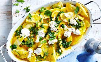 ricotta and spinach agnolotti