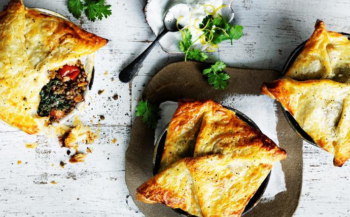 Spiced lentil and kumara pies