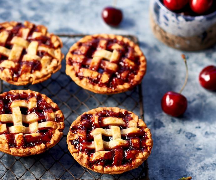 """**[Cherry lattice pies for your pie maker](https://www.womensweeklyfood.com.au/recipes/pie-maker-cherry-lattice-pies-32570 target=""""_blank"""")**  This handy appliance can make more than just the standard pie."""