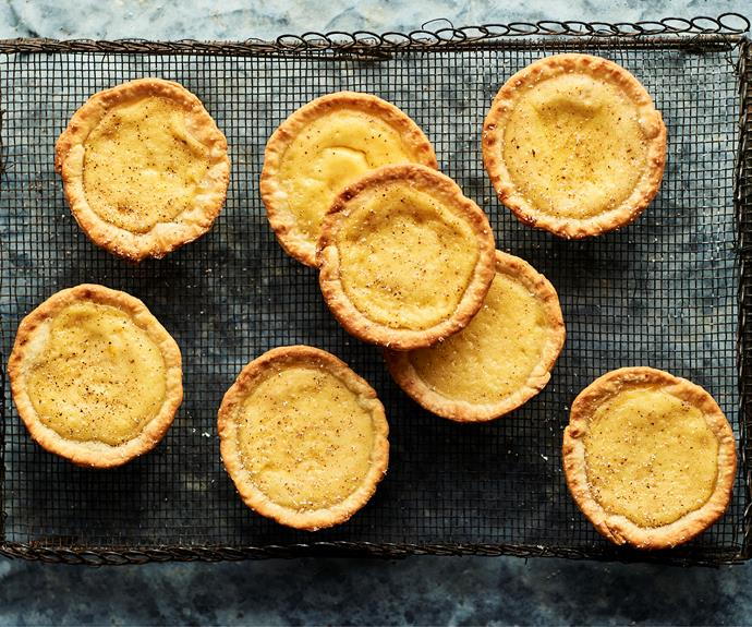 """These [sweet custard tarts](https://www.womensweeklyfood.com.au/recipes/pie-maker-custard-tarts-32574 target=""""_blank"""") are as easy as pie to make. Take a few simple ingredients, add in your pie maker and dessert can be on the table in no time!"""