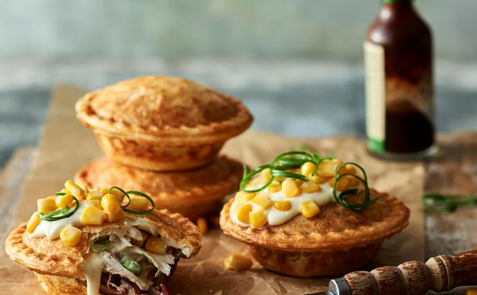 Make smoky chicken and corn pies in your pie maker