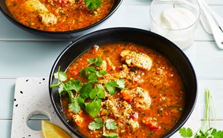Thermomix harissa chicken and couscous soup