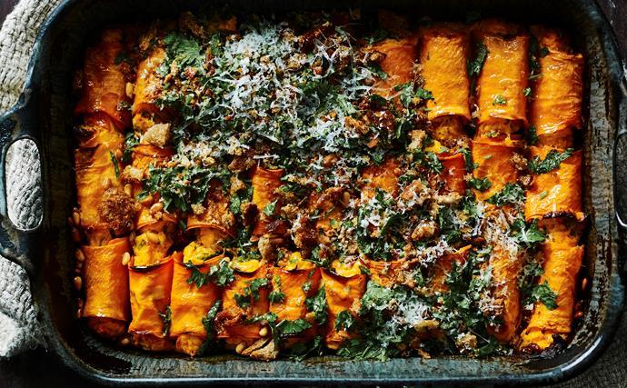 Sweet potato cannelloni