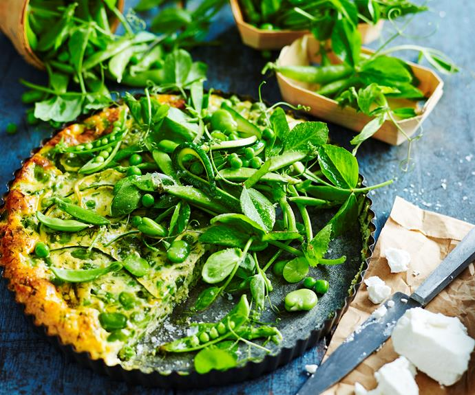 """**[Pea and zucchini frittata](https://www.womensweeklyfood.com.au/recipes/pea-zucchini-frittata-32702