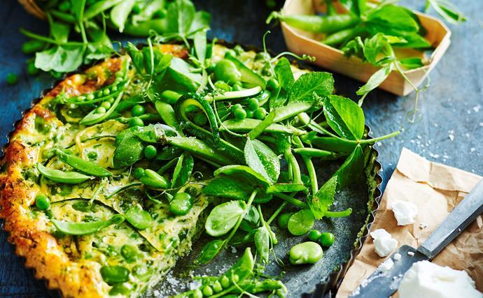 Pea and zucchini frittata