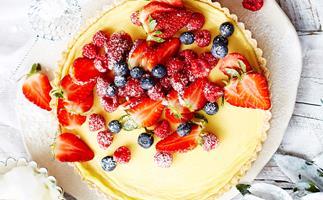 Mixed berry and ricotta tart