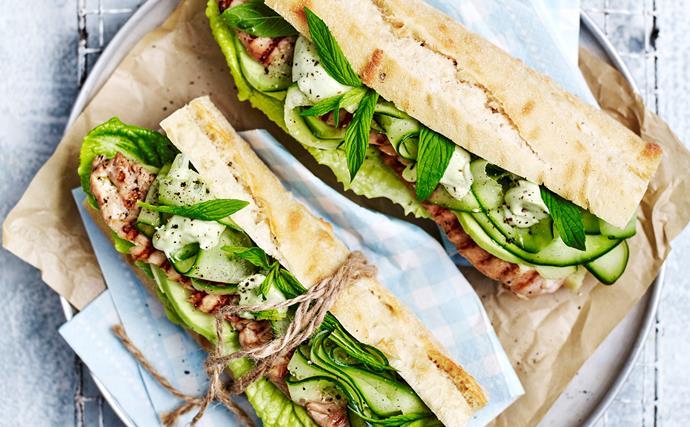 Teriyaki chicken salad rolls