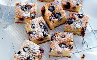 blueberry, lime and passionfruit slice