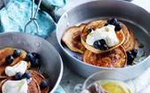 Kumara pancakes with maple yoghurt