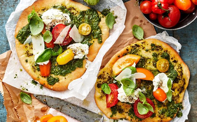 Fresh tomato pizzettas